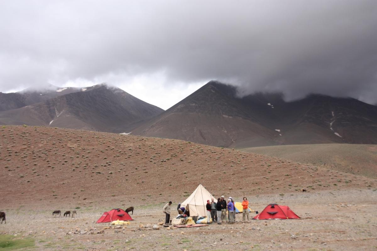 camp at Tarkaddit,desert bivouac