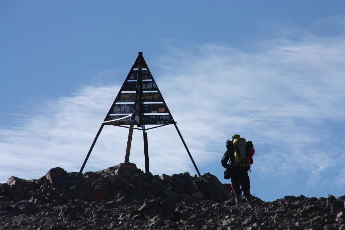 Trekking in atlas mountains